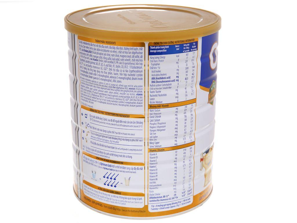 Sữa bột Optimum Gold 4 lon 1.5kg (2 - 6 tuổi) 4
