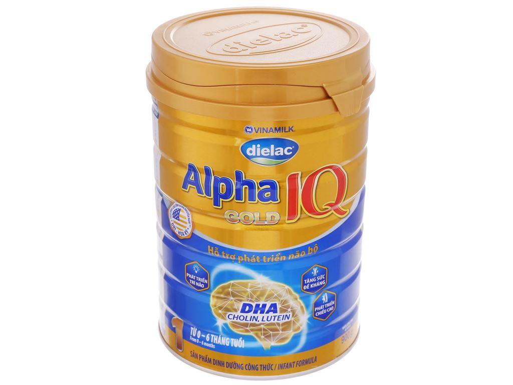 Sữa bột Dielac Alpha Gold IQ 1 lon 900g (0 - 6 tháng) 2