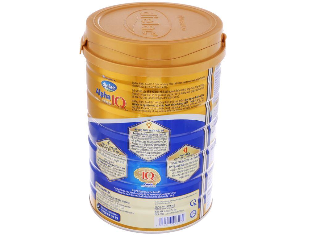 Sữa bột Dielac Alpha Gold IQ 1 lon 900g (0 - 6 tháng) 3