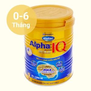 Sữa bột Dielac Alpha Gold IQ 1 lon 900g (0 - 6 tháng)