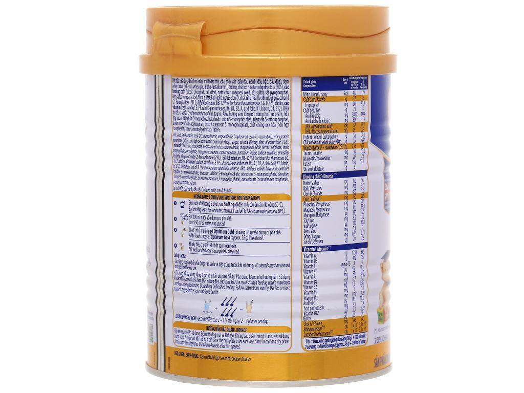 Sữa bột Optimum Gold 3 lon 400g (1 - 2 tuổi) 3