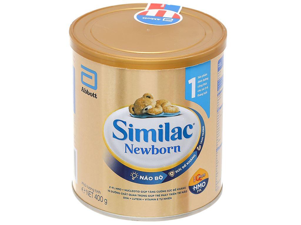Sữa bột Abbott Similac Newborn Eye-Q Plus HMO lon 400g (0 - 6 tháng) 1