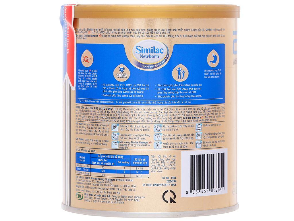 Sữa bột Abbott Similac Newborn Eye-Q Plus HMO lon 400g (0 - 6 tháng) 3