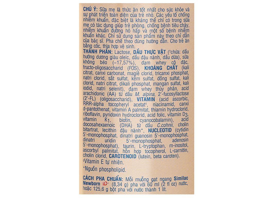 Sữa bột Abbott Similac Newborn Eye-Q Plus HMO lon 400g (0 - 6 tháng) 4