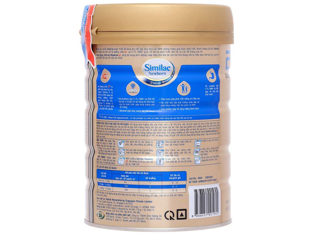 Sữa bột Abbott Similac Newborn Eye-Q Plus HMO lon 900g (0 - 6 tháng) 3