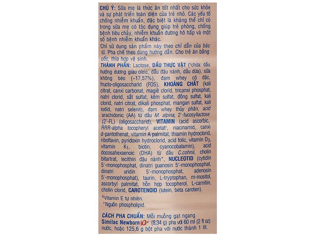 Sữa bột Abbott Similac Newborn Eye-Q Plus HMO lon 900g (0 - 6 tháng) 5