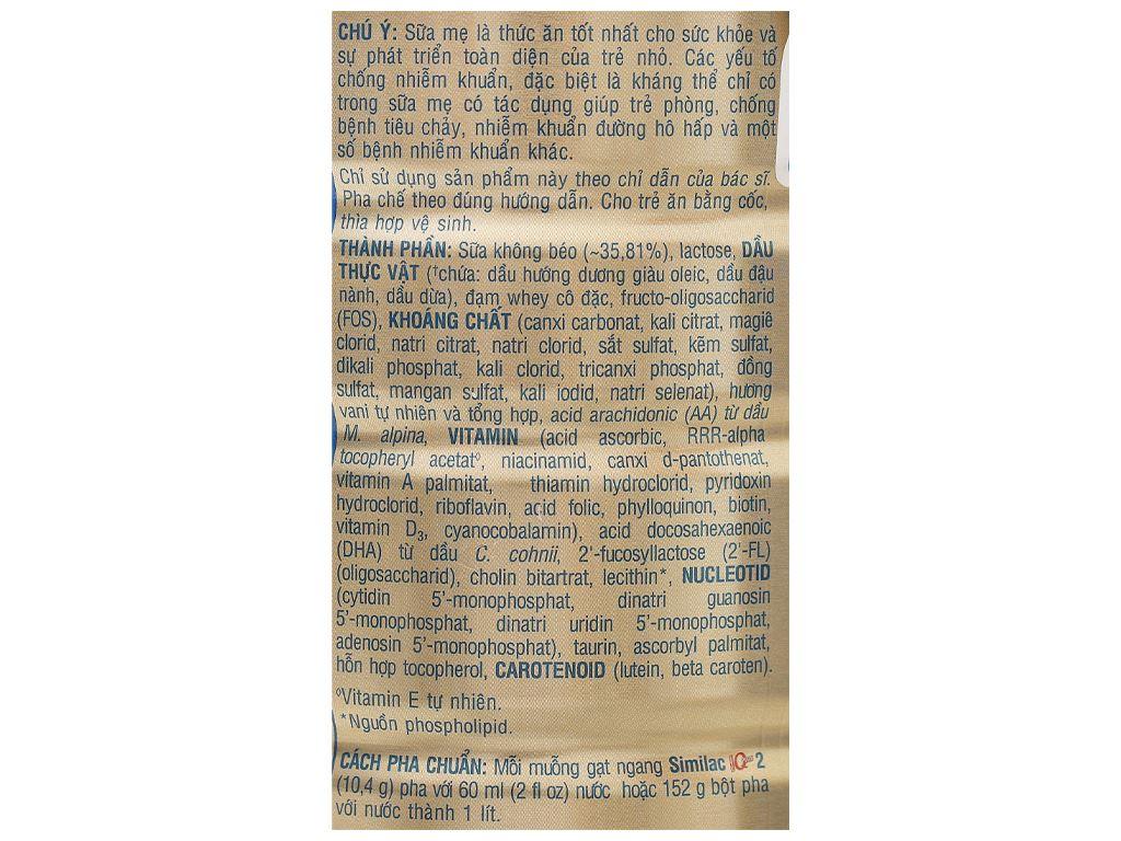 Sữa bột Abbott Similac Eye-Q 2 Plus HMO hương vani lon 900g (6 - 12 tháng) 5