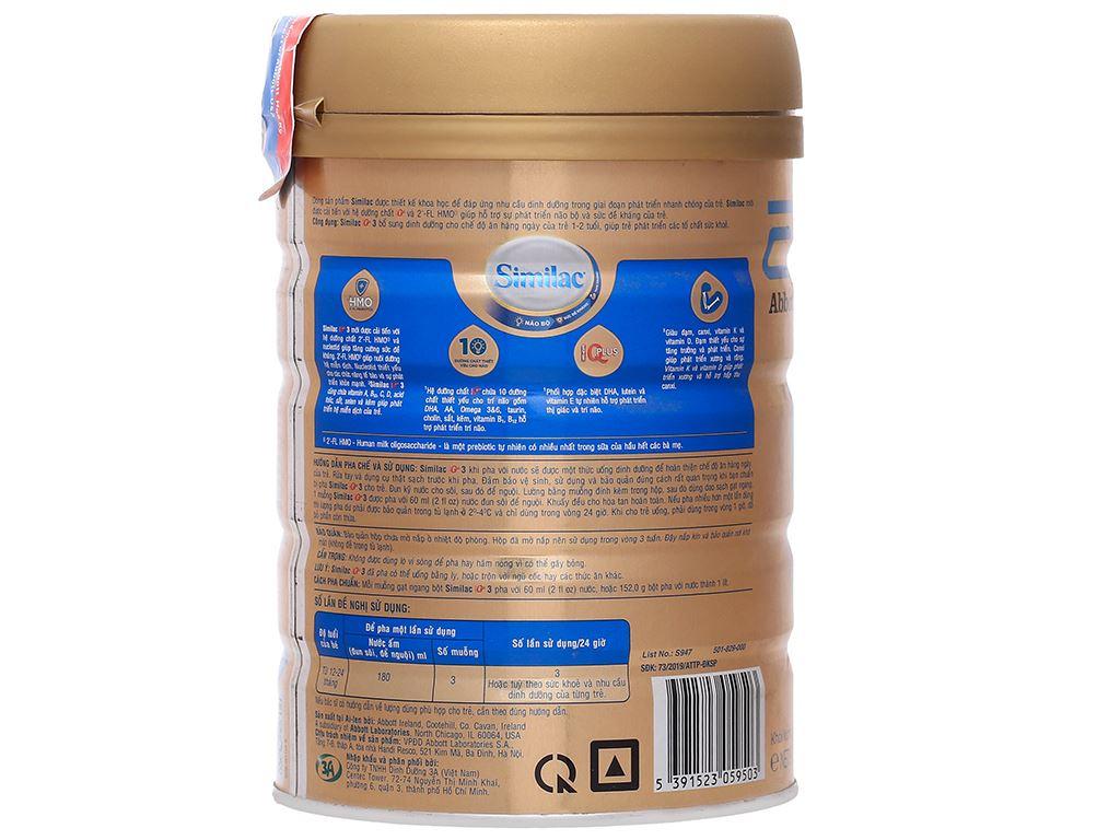 Sữa bột Abbott Similac IQ 3 Plus (HMO) hương vani lon 900g (1 - 2 tuổi) 2