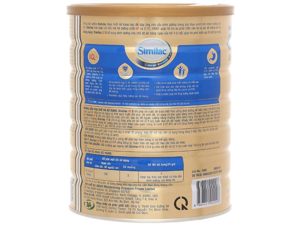 Sữa bột Abbott Similac IQ 3 Plus (HMO) hương vani lon 1.7kg (1 - 2 tuổi) 3