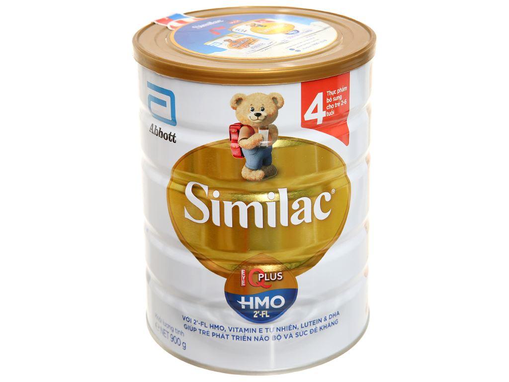 Sữa bột Abbott Similac Eye-Q 4 Plus (HMO) hương vani lon 900g (2 - 6 tuổi) 1