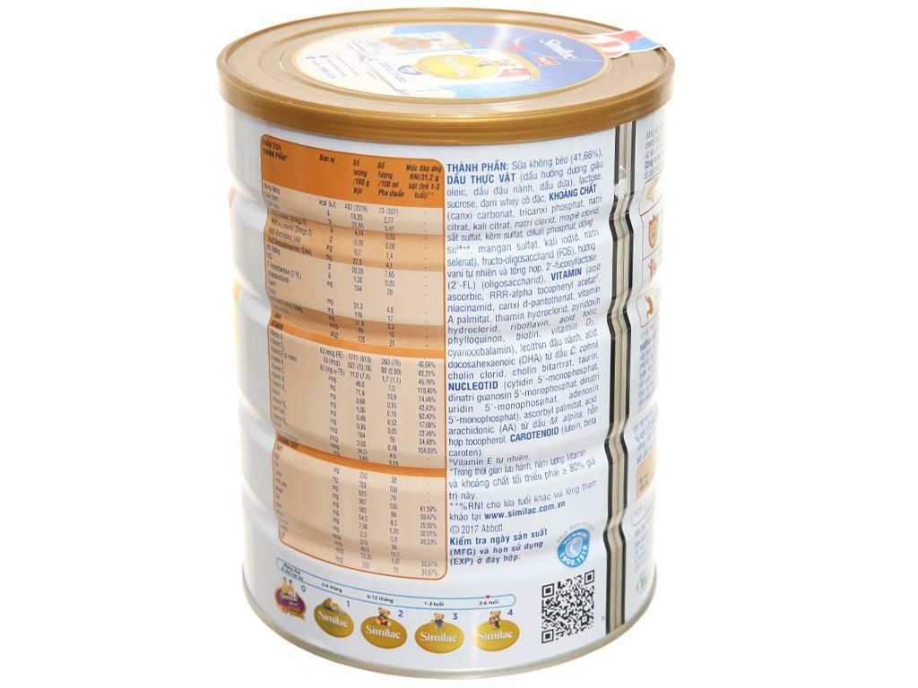 Sữa bột Abbott Similac Eye-Q 4 Plus (HMO) hương vani lon 900g (2 - 6 tuổi) 2