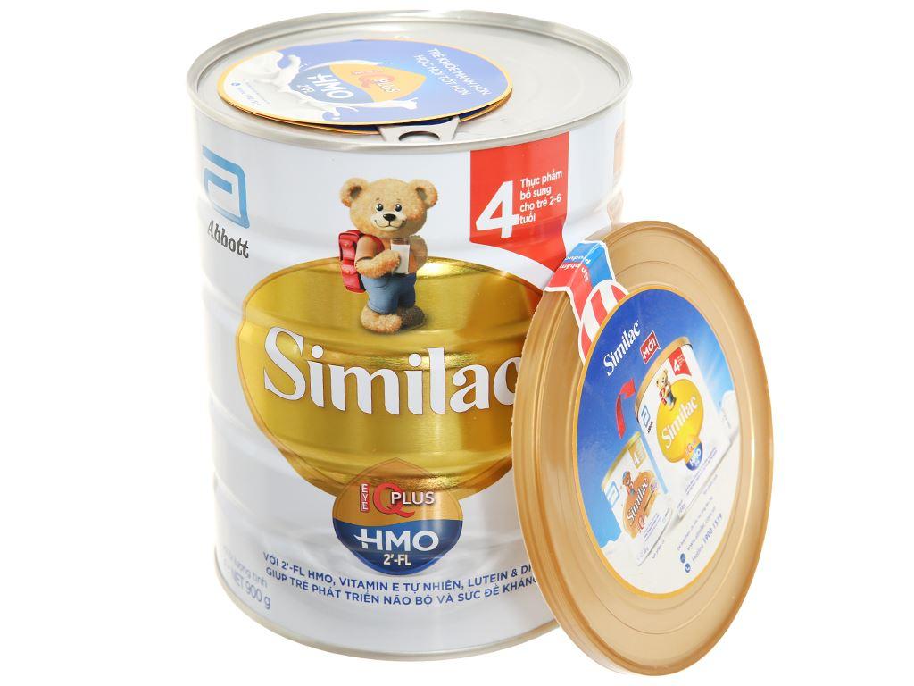 Sữa bột Abbott Similac Eye-Q 4 Plus (HMO) hương vani lon 900g (2 - 6 tuổi) 4
