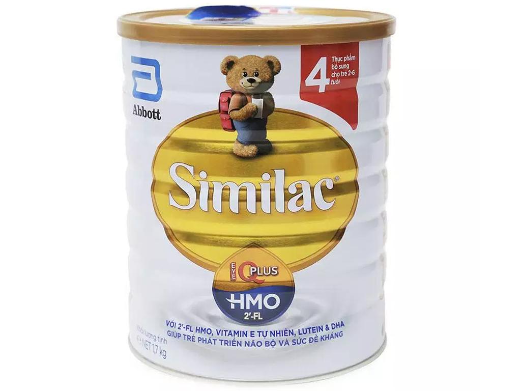 Sữa bột Abbott Similac Eye-Q 4 Plus (HMO) hương vani lon 1.7kg (2 - 6 tuổi) 1