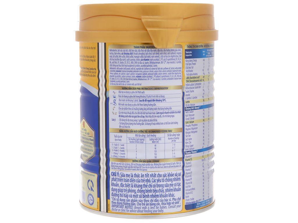Sữa bột Dielac Alpha Gold IQ 1 lon 400g (0 - 6 tháng) 3