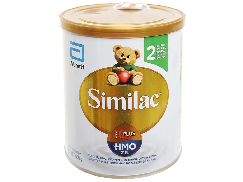 Sữa bột Abbott Similac Eye-Q 2 Plus HMO hương vani lon 400g (6 - 12 tháng) 1