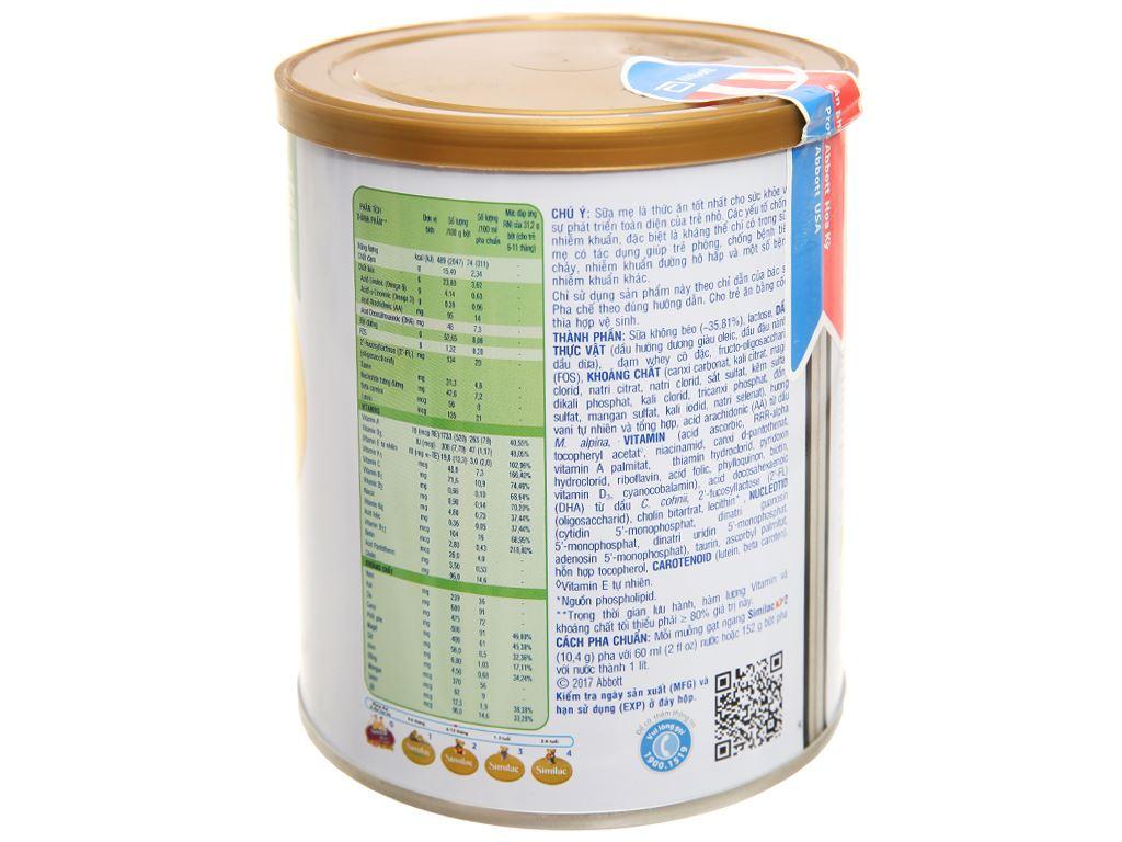 Sữa bột Abbott Similac Eye-Q 2 Plus HMO hương vani lon 400g (6 - 12 tháng) 2