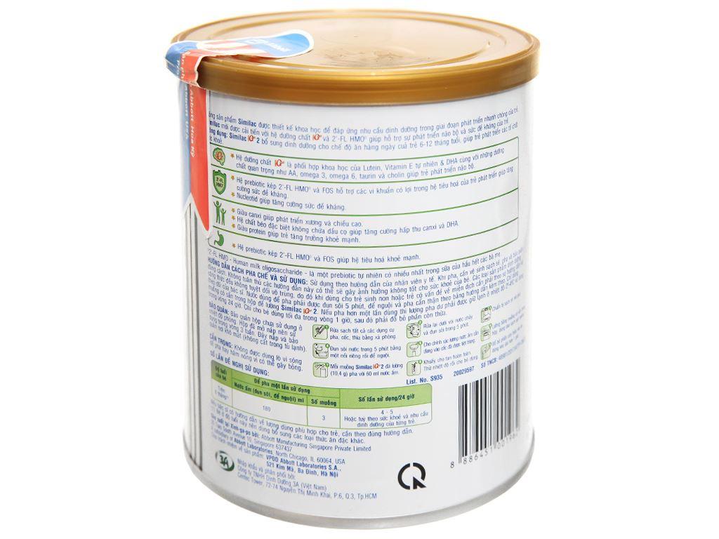 Sữa bột Abbott Similac Eye-Q 2 Plus HMO hương vani lon 400g (6 - 12 tháng) 3