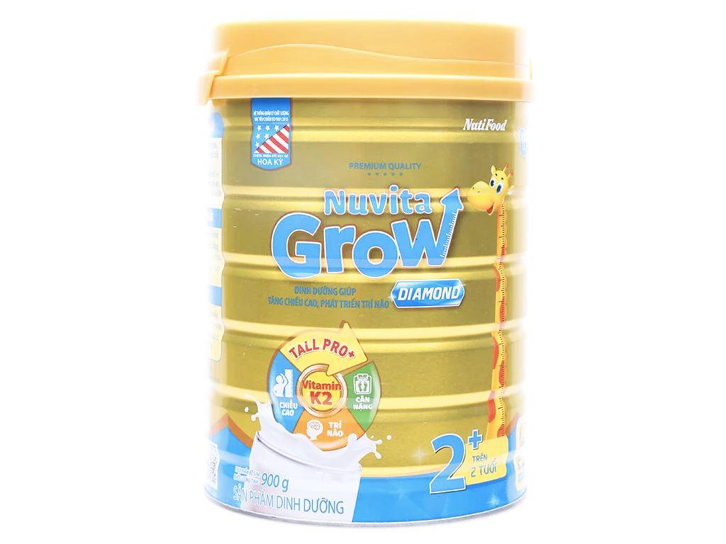 Sữa bột NutiFood Nuvita Grow Diamond 2+ lon 900g (trên 2 tuổi) 1