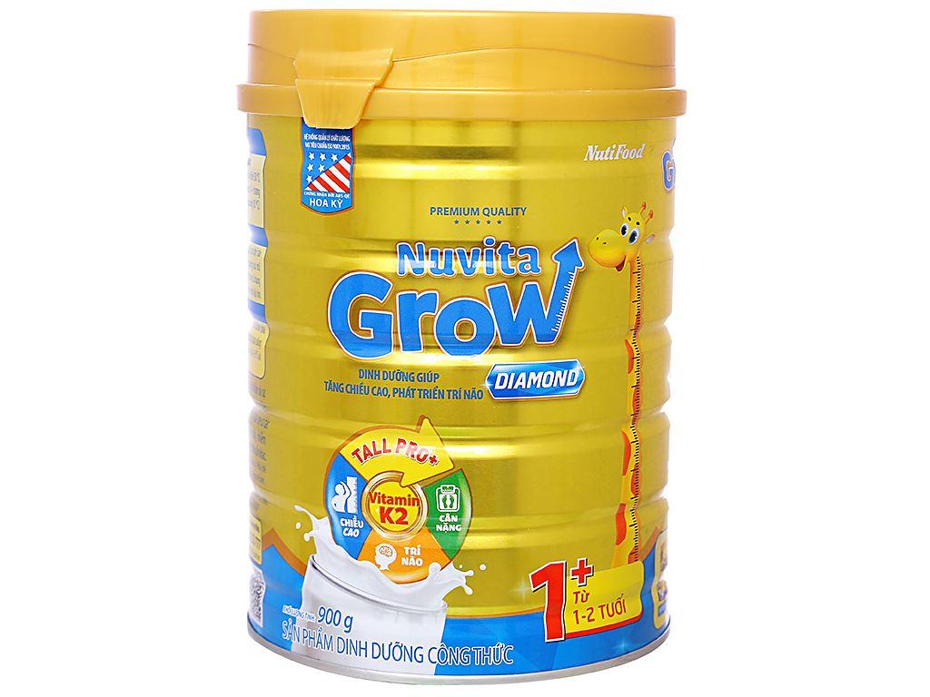 Sữa bột NutiFood Nuvita Grow Diamond 1+ lon 900g (1 - 2 tuổi) 1