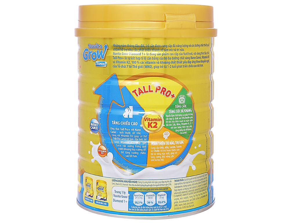 Sữa bột NutiFood Nuvita Grow Diamond 1+ lon 900g (1 - 2 tuổi) 3