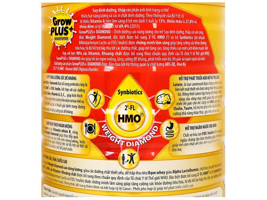 Sữa bột NutiFood NutiFood Grow Plus+ Diamond 2+ lon 850g (trên 2 tuổi) 7