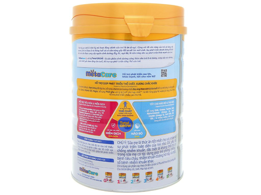 Sữa bột Nutricare Metacare 1 lon 900g (0 - 6 tháng) 2