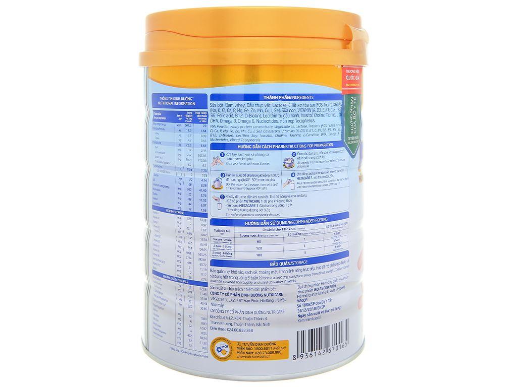 Sữa bột Nutricare Metacare 1 lon 900g (0 - 6 tháng) 3