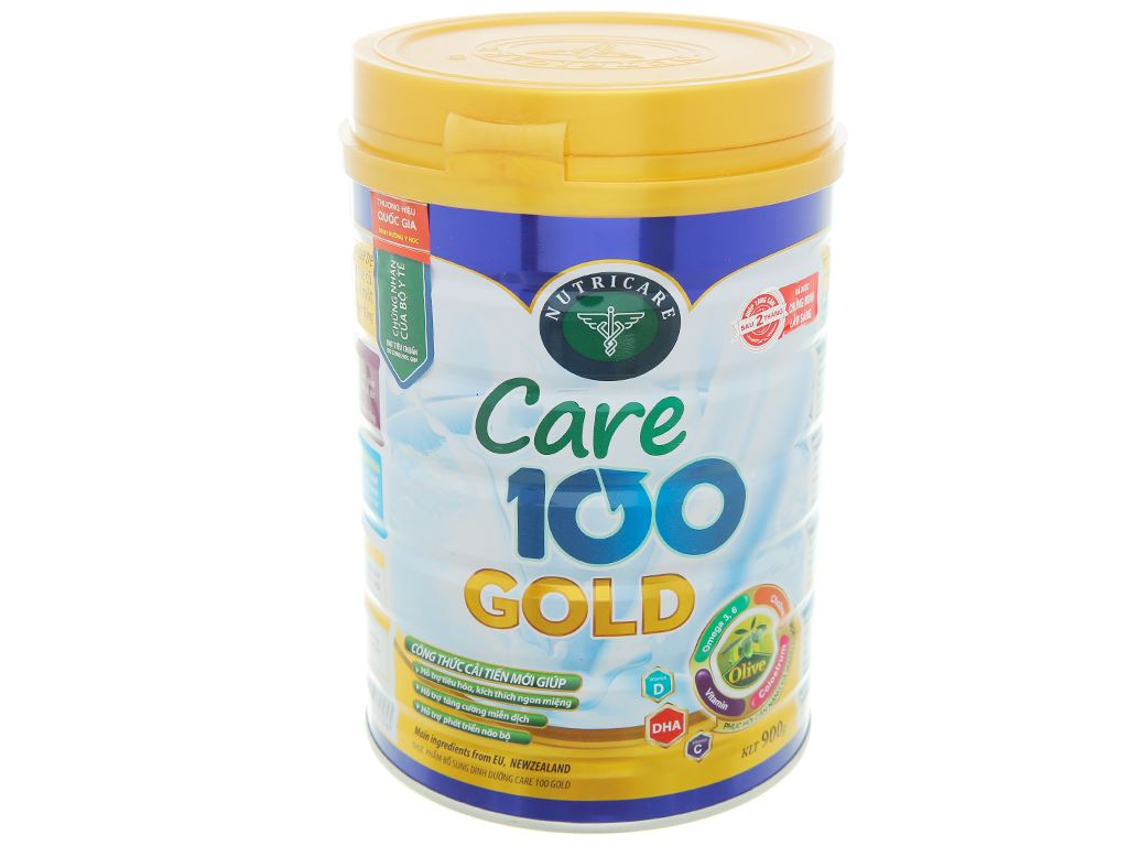 Sữa bột Nutricare 100 Gold lon 900g (1 - 10 tuổi) 1