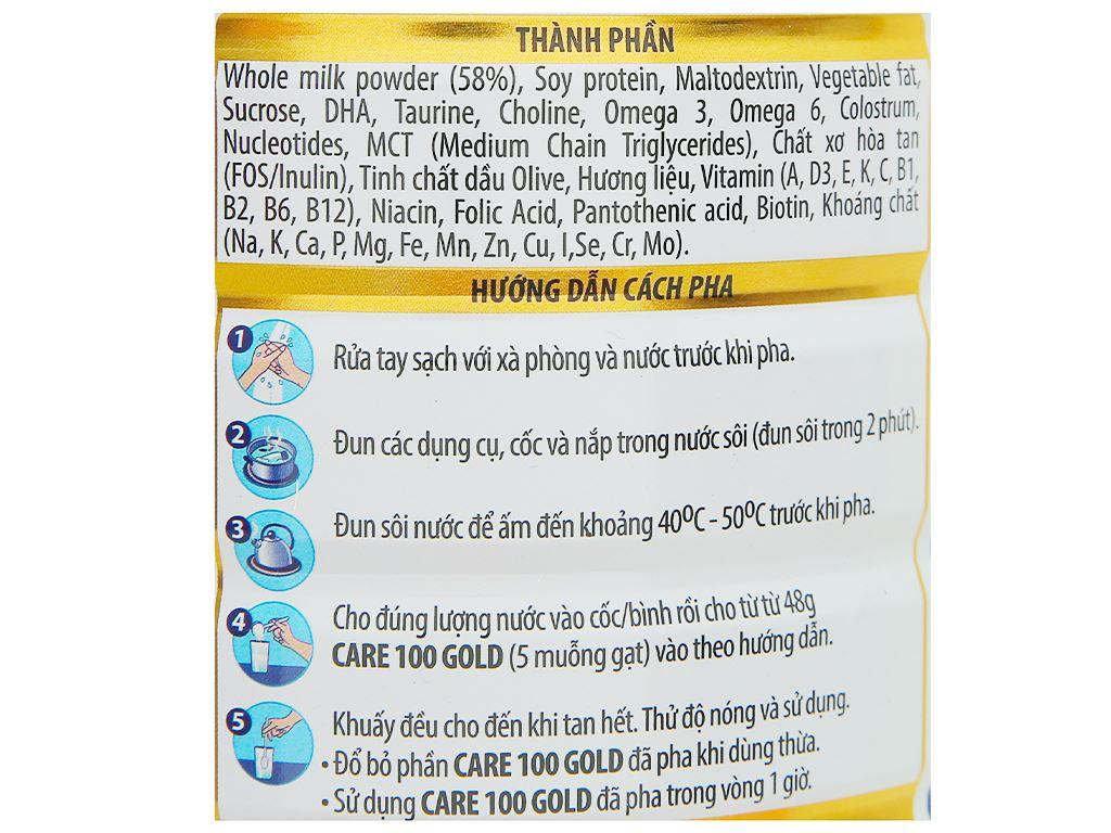 Sữa bột Nutricare 100 Gold lon 900g (1 - 10 tuổi) 3
