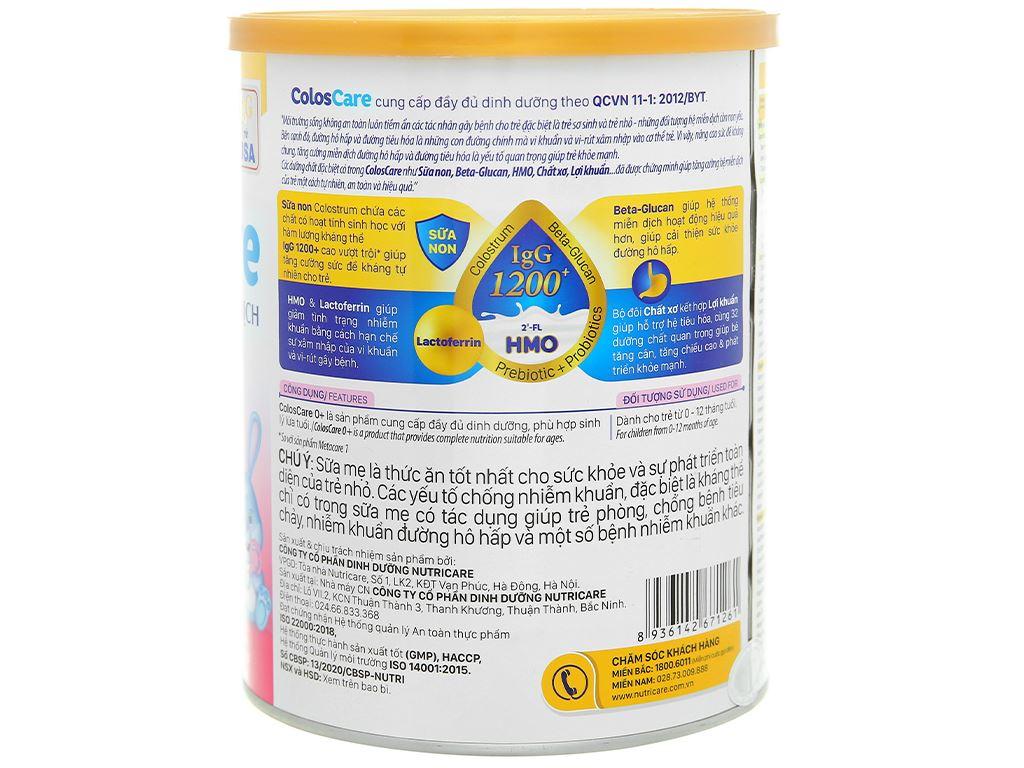 Sữa bột Nutricare ColosCare 0+ lon 800g (0 - 12 tháng) 2