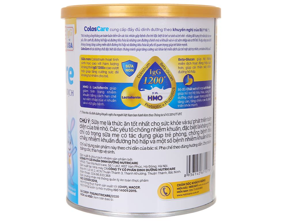 Sữa bột Nutricare ColosCare 1+ lon 400g (1 - 10 tuổi) 3