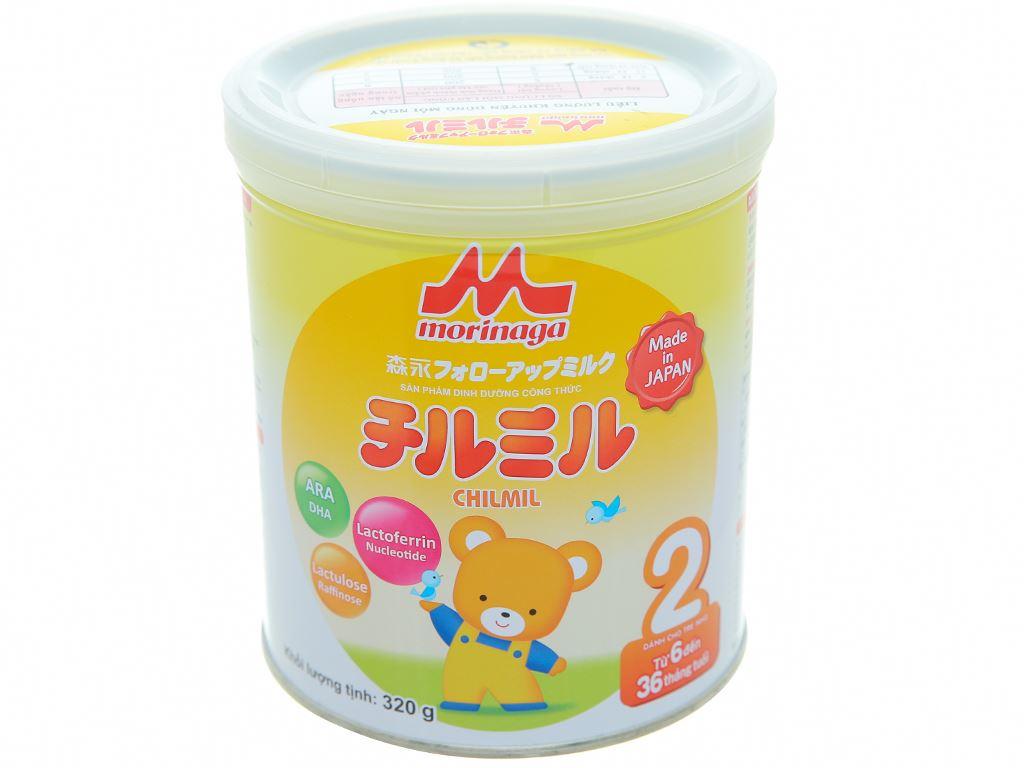 Sữa bột Morinaga Số 2 Chilmil lon 320g (6 - 36 tháng tuổi) 1