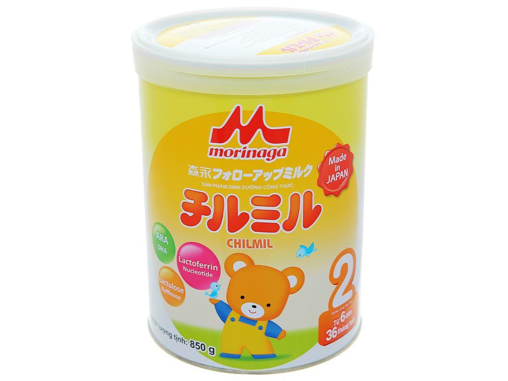 Sữa bột Morinaga Số 2 Chilmil lon 850g (6 - 36 tháng tuổi) 1