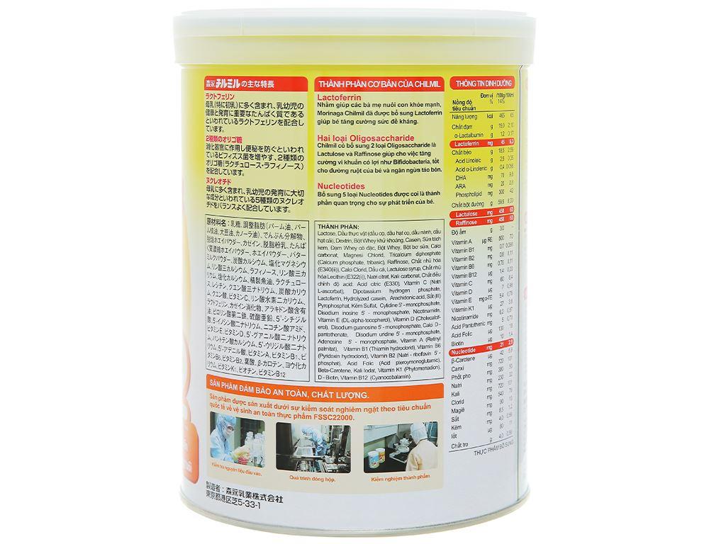 Sữa bột Morinaga Số 2 Chilmil lon 850g (6 - 36 tháng tuổi) 2