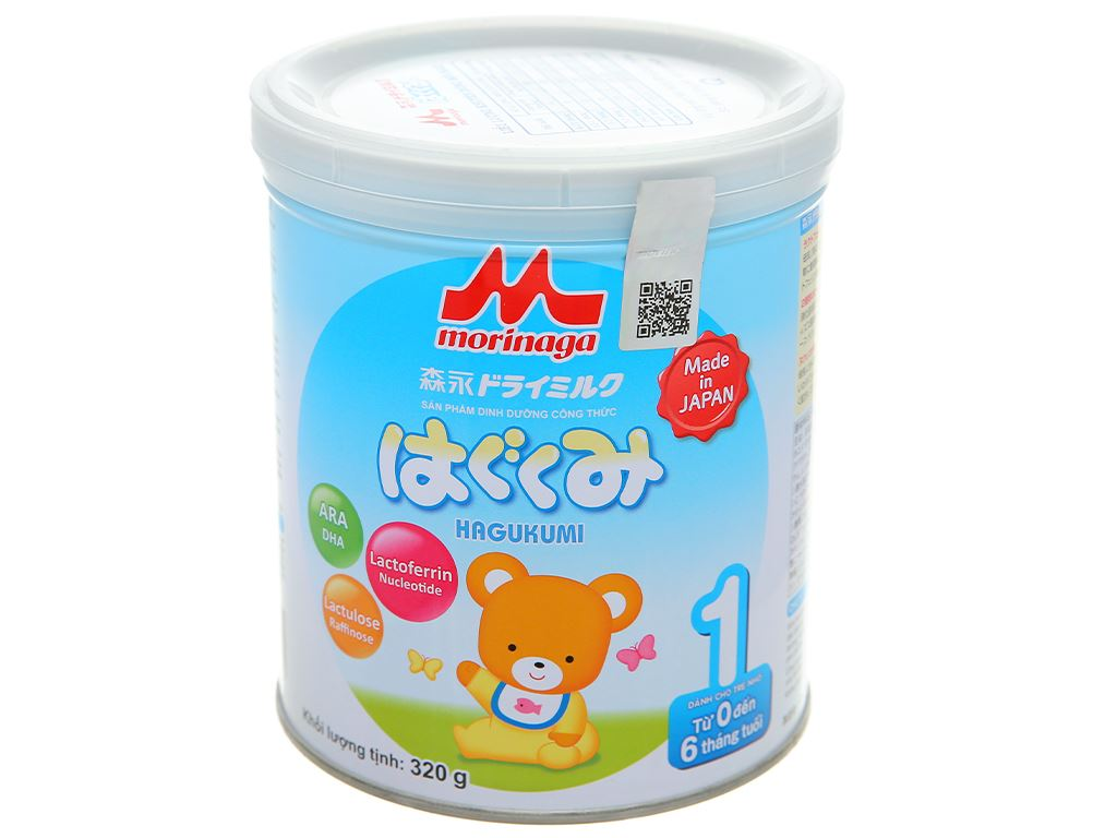 Sữa bột Morinaga Số 1 Hagukumi lon 320g (0 - 6 tháng) 1