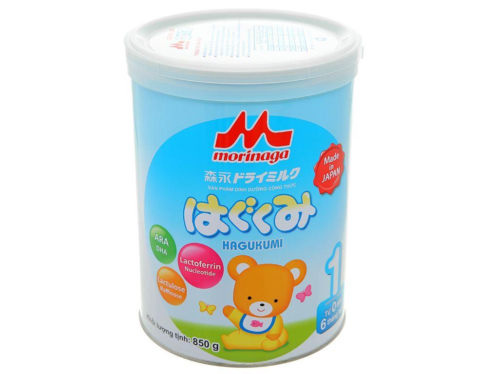 Sữa bột Morinaga Số 1 Hagukumi lon 850g (0 - 6 tháng) 1