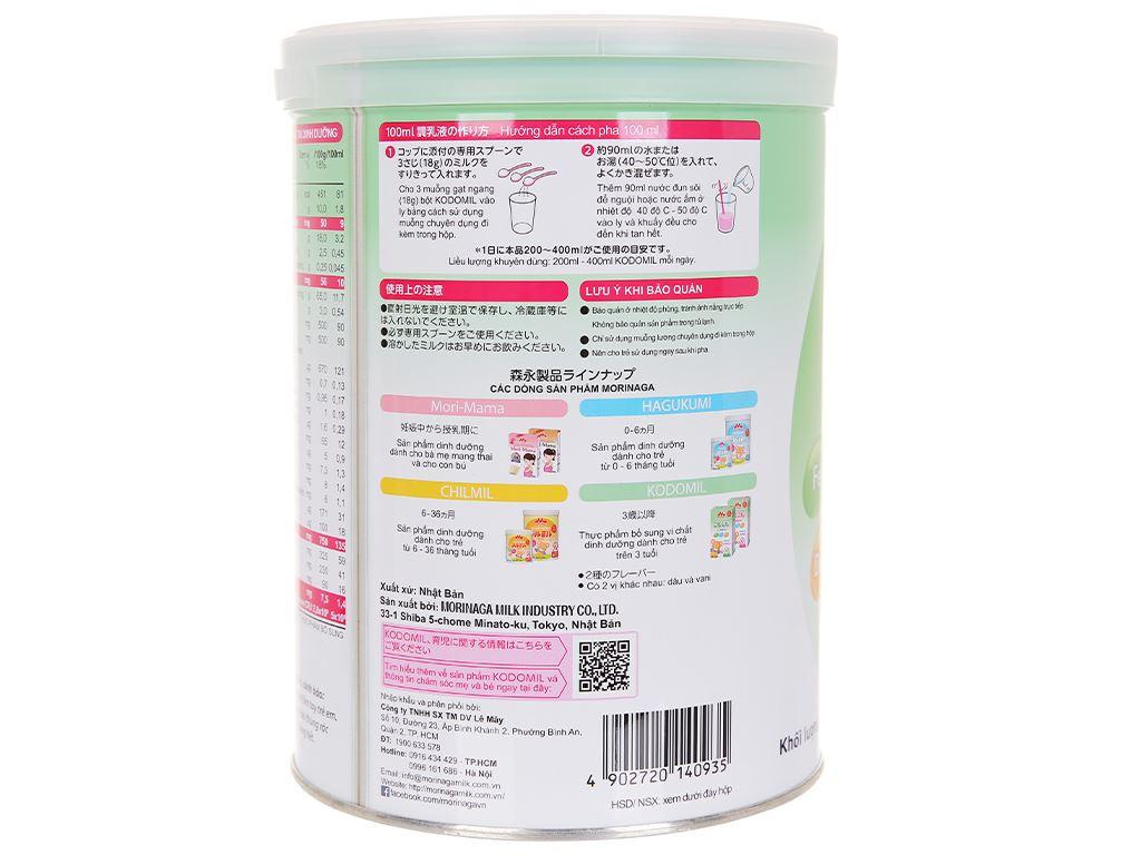 Sữa bột Morinaga Số 3 Kodomil hương dâu lon 850g (trên 3 tuổi) 4