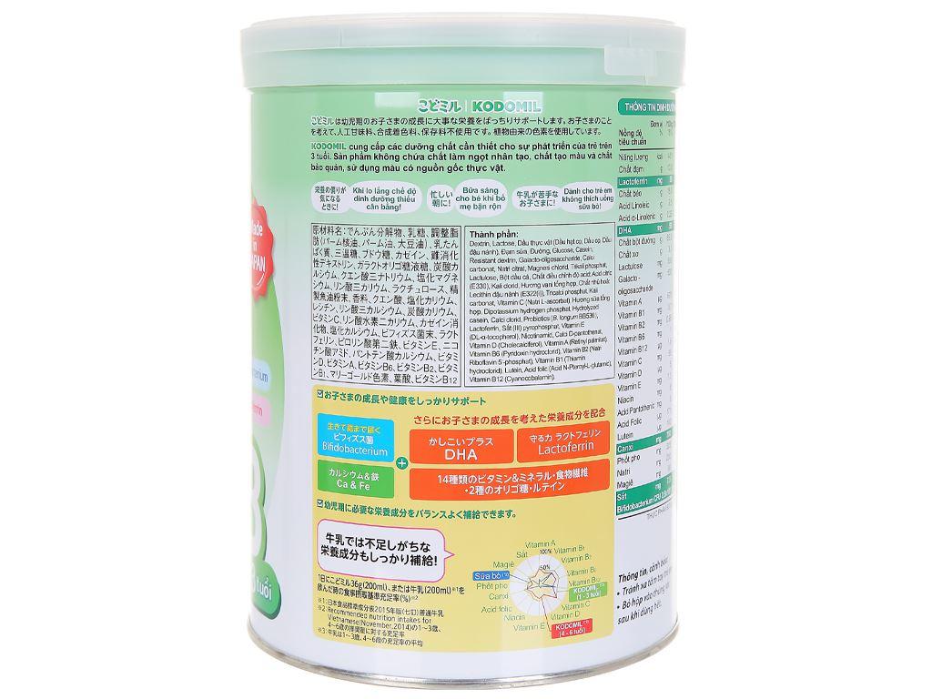 Sữa bột Morinaga Số 3 Kodomil hương vani lon 850g (trên 3 tuổi) 2