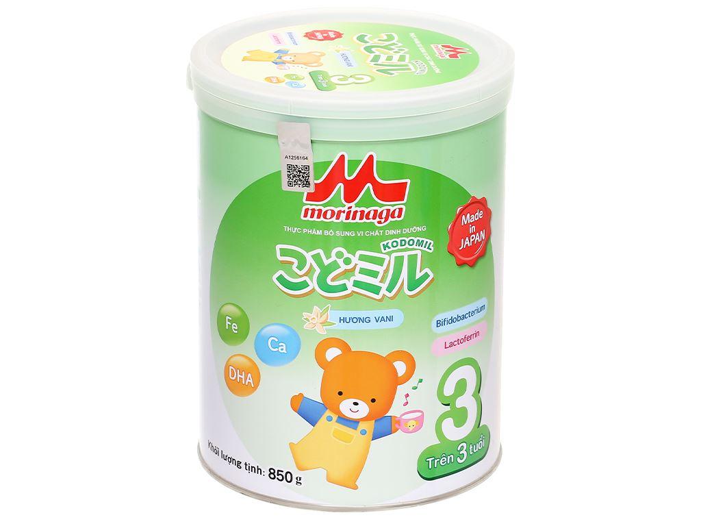Sữa bột Morinaga Số 3 Kodomil hương vani lon 850g (trên 3 tuổi) 1