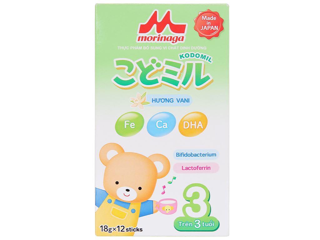 Sữa bột Morinaga Số 3 Kodomil hương vani hộp 216g (trên 3 tuổi) 2