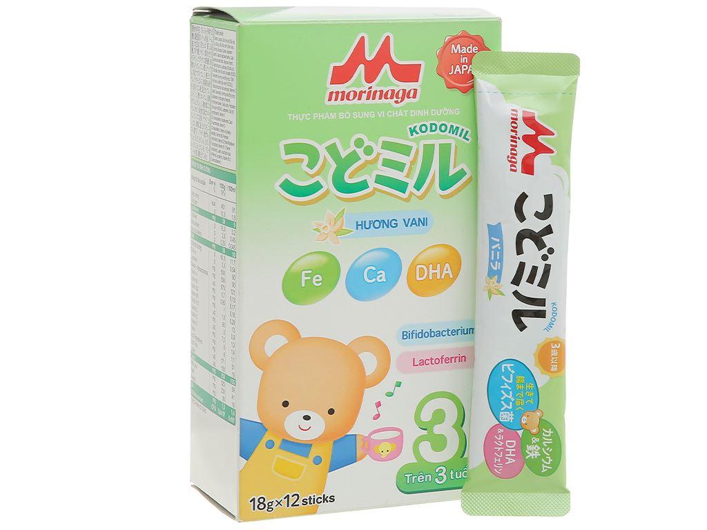 Sữa bột Morinaga Số 3 Kodomil hương vani hộp 216g (trên 3 tuổi) 3