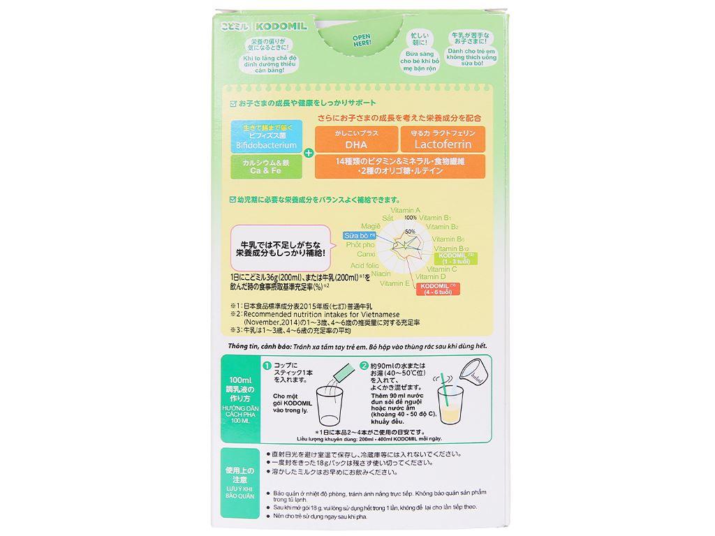 Sữa bột Morinaga Số 3 Kodomil hương vani hộp 216g (trên 3 tuổi) 4