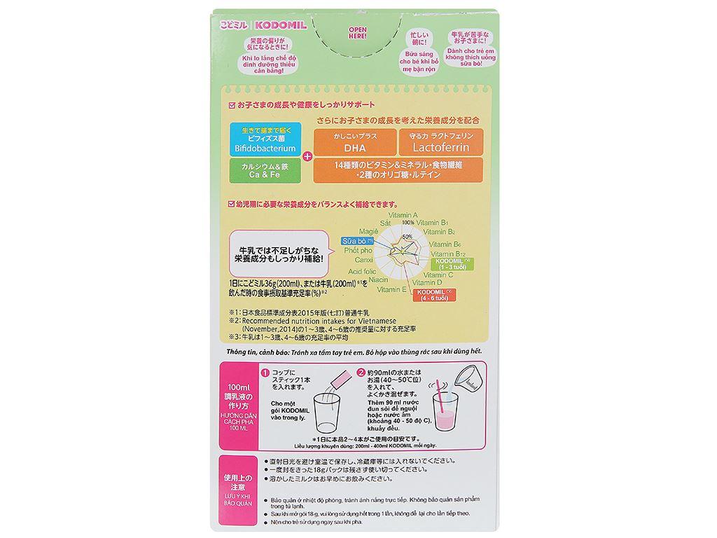 Sữa bột Morinaga Số 3 Kodomil hương dâu hộp 216g (trên 3 tuổi) 2