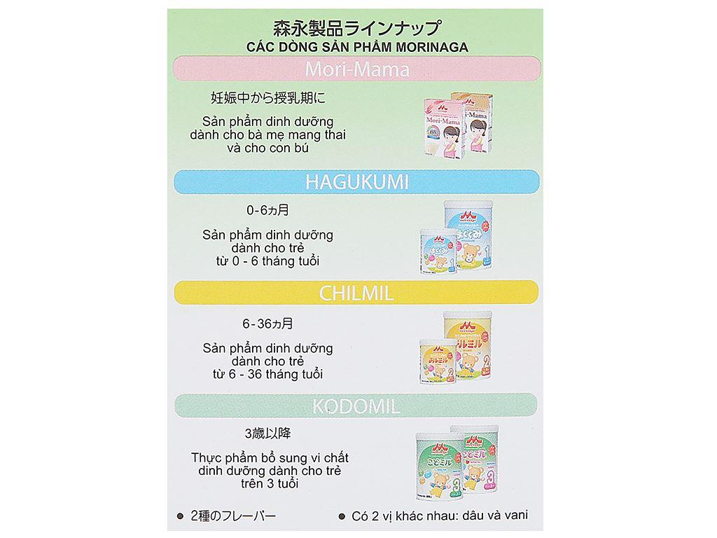 Sữa bột Morinaga Số 3 Kodomil hương dâu hộp 216g (trên 3 tuổi) 5