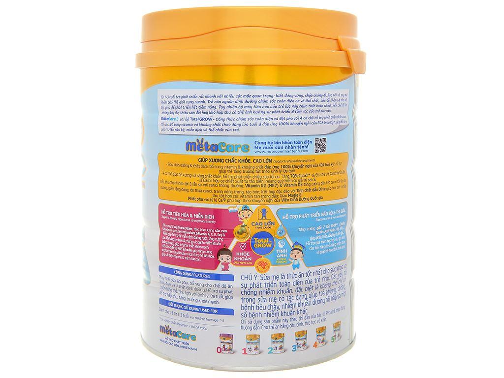 Sữa bột Nutricare MetaCare 3 lon 900g (1 - 3 tuổi) 2