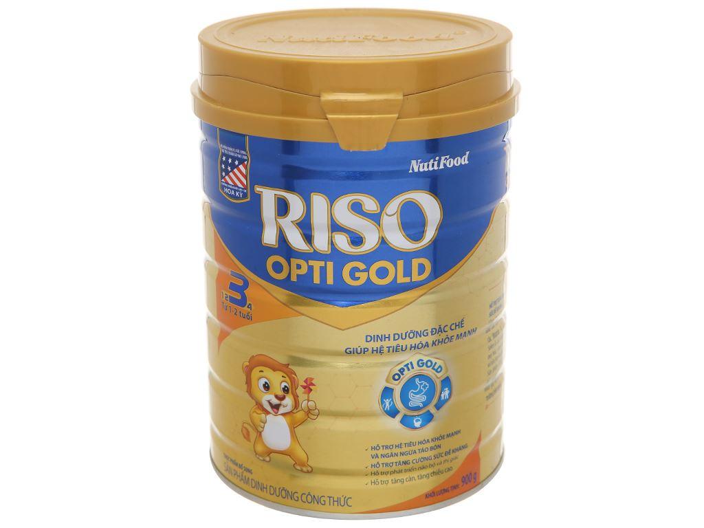 Sản phẩm dinh dưỡng công thức NutiFood Riso Opti Gold 3 lon 900g (1 - 2 tuổi) 1