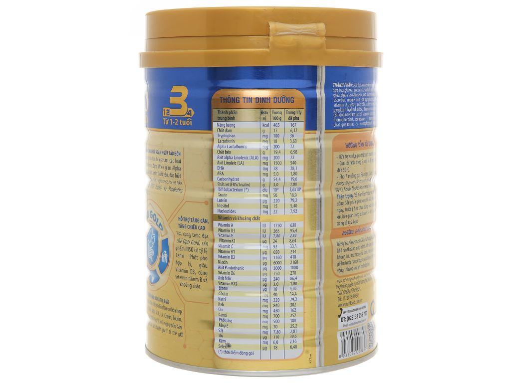 Sản phẩm dinh dưỡng công thức NutiFood Riso Opti Gold 3 lon 900g (1 - 2 tuổi) 3