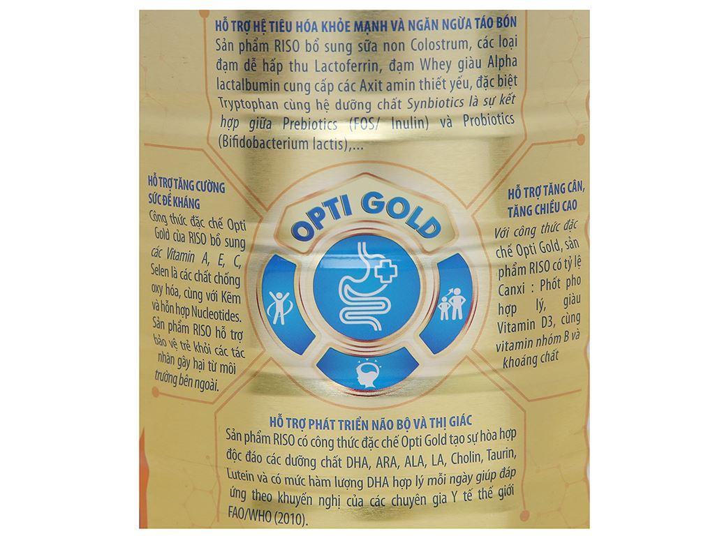Sản phẩm dinh dưỡng công thức NutiFood Riso Opti Gold 3 lon 900g (1 - 2 tuổi) 4