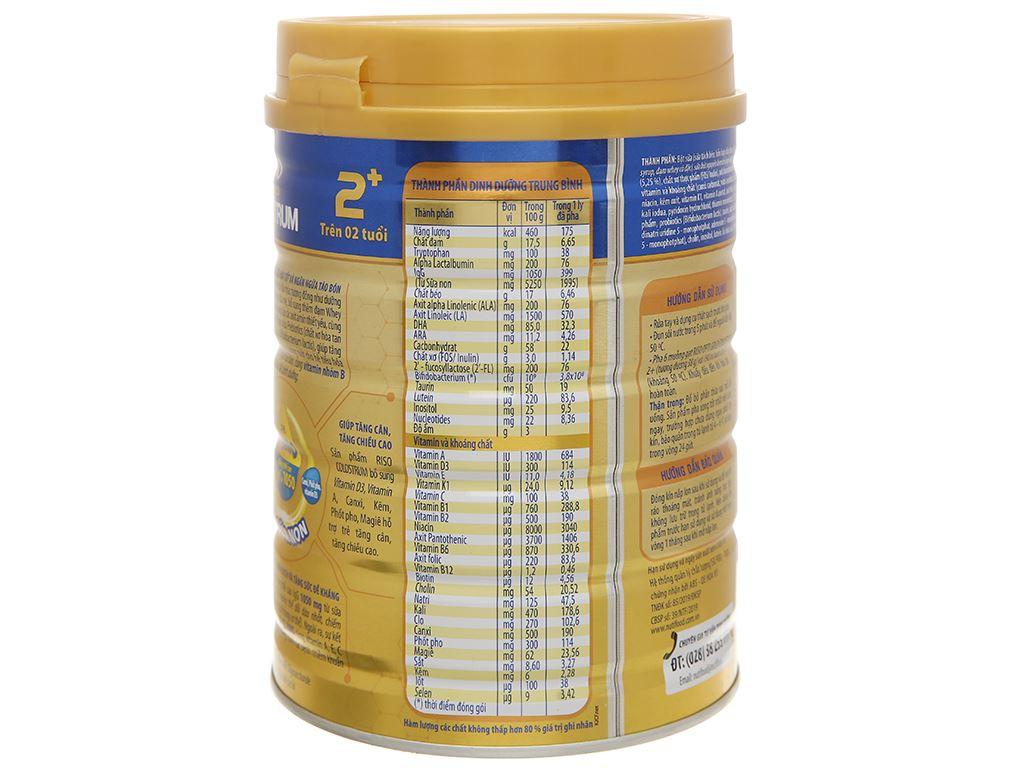 Sản phẩm dinh dưỡng NutiFood Riso Opti Gold Colostrum 2+ lon 800g (trên 2 tuổi) 3