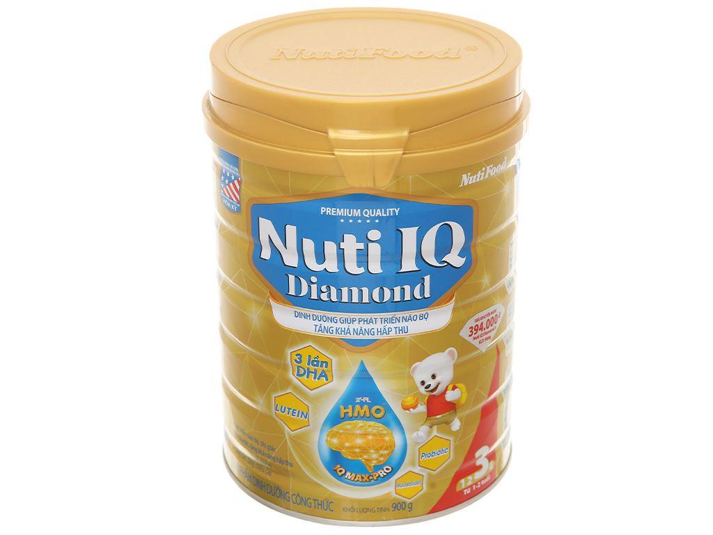 Sản phẩm dinh dưỡng công thức NutiFood Nuti IQ Diamond 3 lon 900g (1 - 2 tuổi) 1